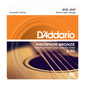 Cordes Guitare acoustique EJ15,  Phosphor Bronze, Extra Light, 10-47