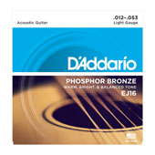 Cordes Guitare acoustique EJ16, Phosphor Bronze, Light, 12-53