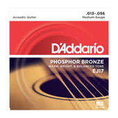 Cordes Guitare acoustique EJ17, Phosphor Bronze, Medium, 13-56