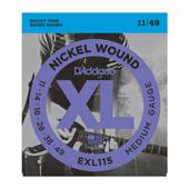 Cordes guitare électrique EXL115, Nickel Wound, Medium/ Blues-Jazz Rock, 11-49