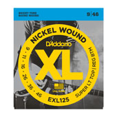 Cordes guitare électrique EXL, Nickel Wound, Super Light Top/Regular Bottom, 9-46