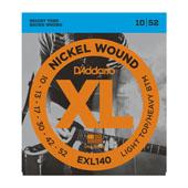 Cordes guitare électrique EXL140, Nickel Wound, Light Top/ Heavy Bottom, 10-52