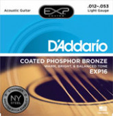 Cordes Guitare Acoustique EXP16, Coated Phosphor Bronze, Light, 12-53